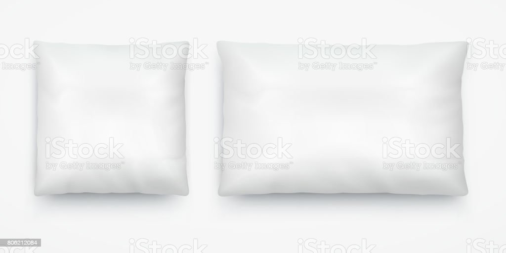 white pillow layout square and long rectangular stock illustration download image now istock
