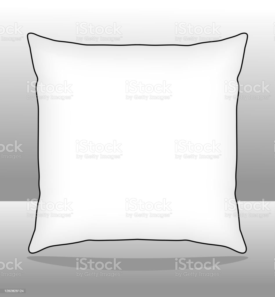 white square pillow throw pillow vector for template stock illustration download image now istock