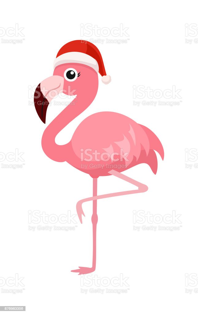 Christmas Flamingos Logos