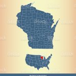 Wisconsin County Map Outline Vector Illustration Background In A Creative Design Stock Illustration Download Image Now Istock