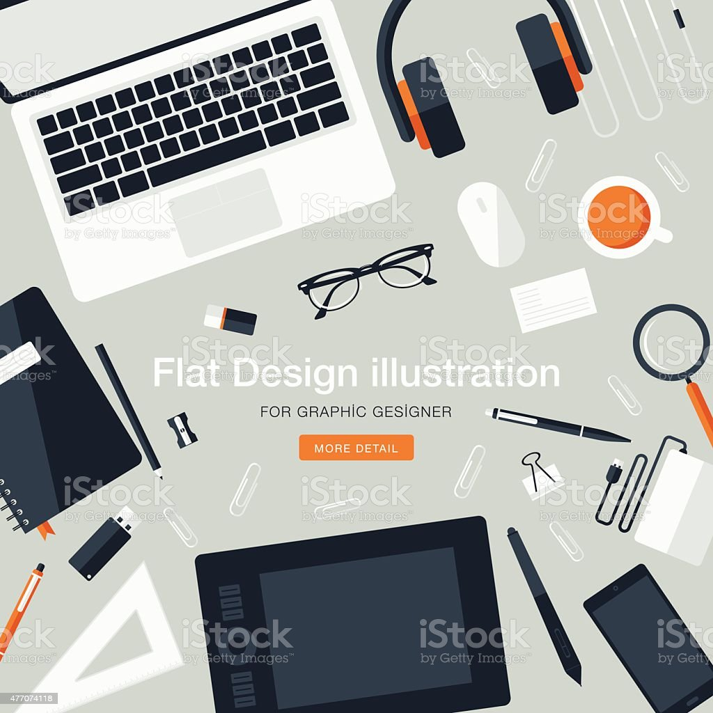 Best Kitchen Gallery: Workspace For Graphic Designer Stock Vector Art More Images Of of Graphic Design Workspace  on rachelxblog.com