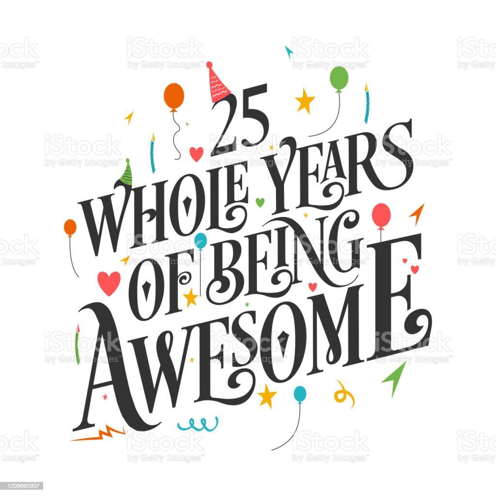 88 Happy 25th Birthday Illustrations Clip Art Istock