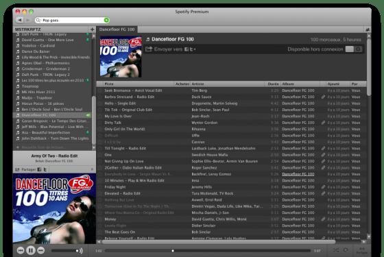 Spotify Premium, Dancefloor FG 100