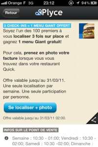 Offre check-in via Plyce