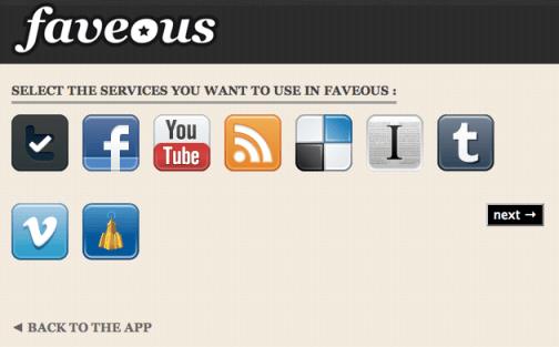 Les services disponibles sur Faveous