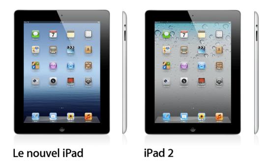 Comparez les modèles iPad (3ème génération) et iPad 2
