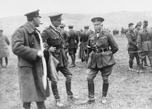 Lieutenant General Sir Henry Fuller Maitland Wilson, G.O.C. XII Corps, attending a Gymkhana arranged by two Scottish Battalions, Salonika, 12 February 1916. THE MACEDONIAN CAMPAIGN, 1915-1918