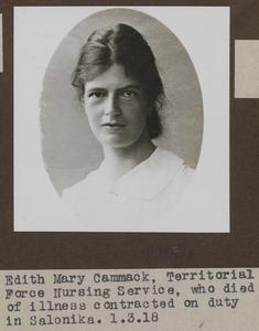 STAFF NURSE EDITH MARY CAMMACK