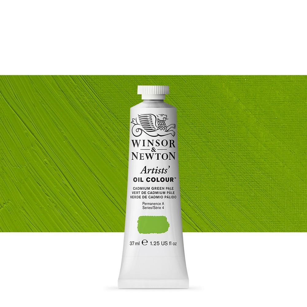 Winsor Newton Artists Oil Paint 37ml Cadmium Green Pale Jackson S Art Supplies
