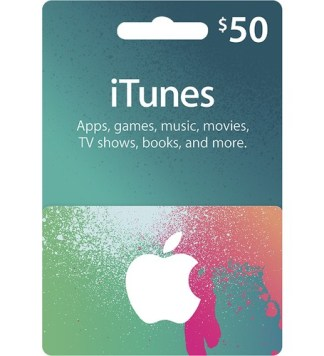 $50 US iTunes Gift Card