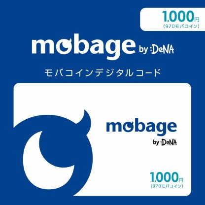 Mobage MobaCoin Card 1000 JPY