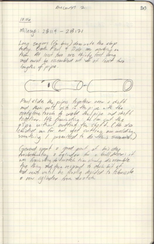 Field Notes with Diagram