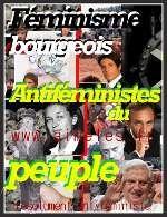bourgeoises féministes féminisme peuple antiféministe Zemmour Soral Benoit 16 XVI Giusepe Badinter Pelletier Madeleine Clémentine Autain Caroline de Haas