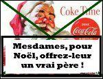 Noël fêtes chocolats gratuits mon cherry chérie coca cola père Noël