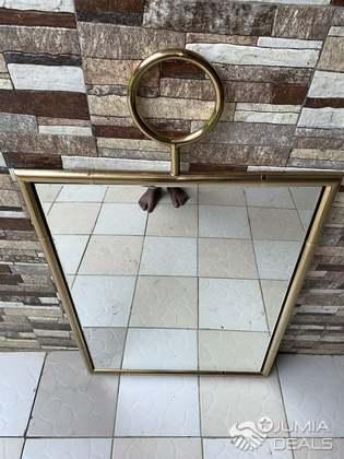 miroir decoratif salle de bain or