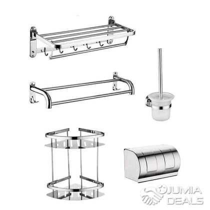 ensemble accessoires salle de bain composee de 5pieces