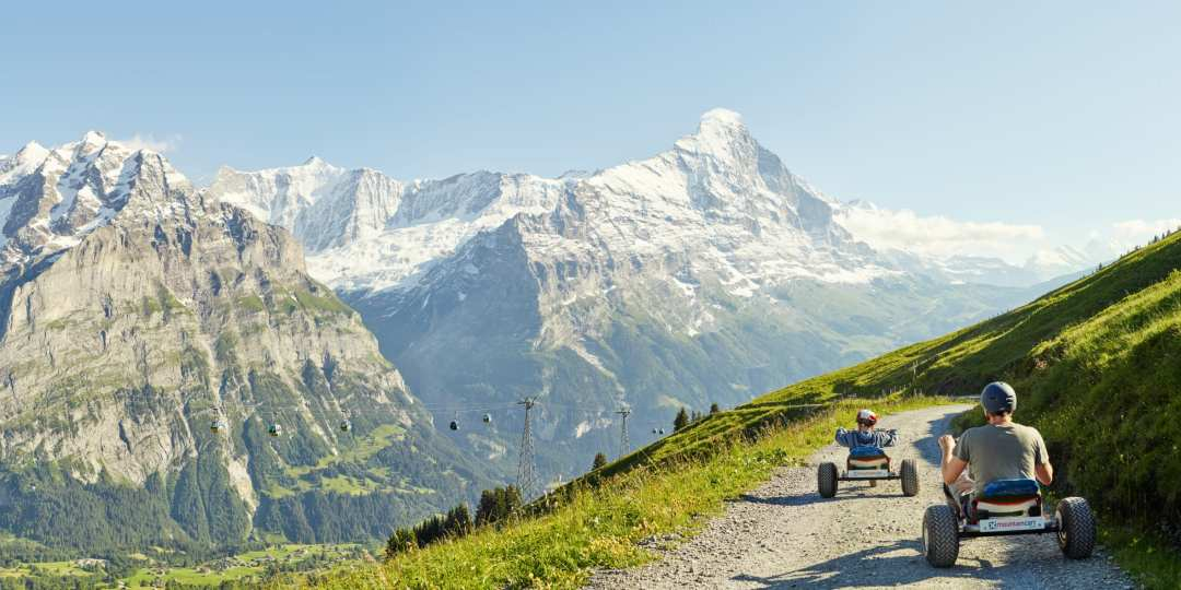 First Mountaincart Panorama Eiger Wetterhorn Grindelwald