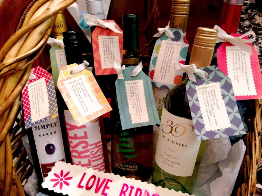 How To Easily Make A Wedding Wine Basket