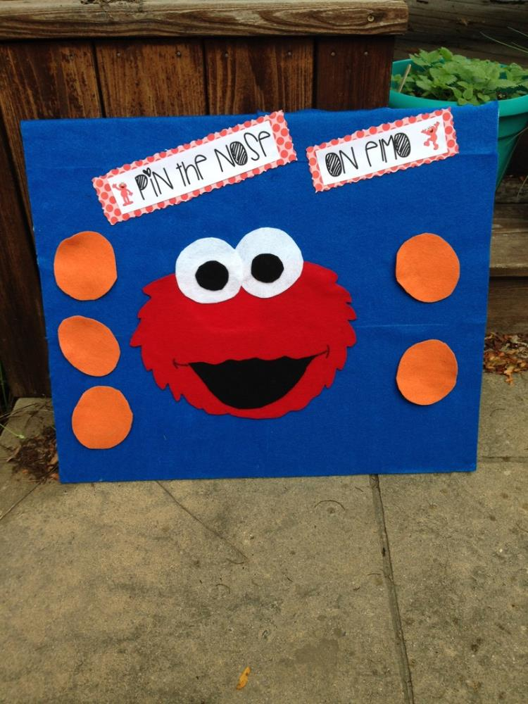 Greeting Cards Party Supply Pin The Nose On Elmo Birthday Party Game Free Shipping Party Supplies