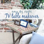 Easy Diy Tv Tray Table Makeover Just Measuring Up