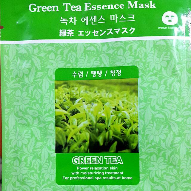 Masker Murah Original Korea Mj Care Mask Green Tea Masker Wajah Topeng Teh Hijau Health Beauty On Carousell