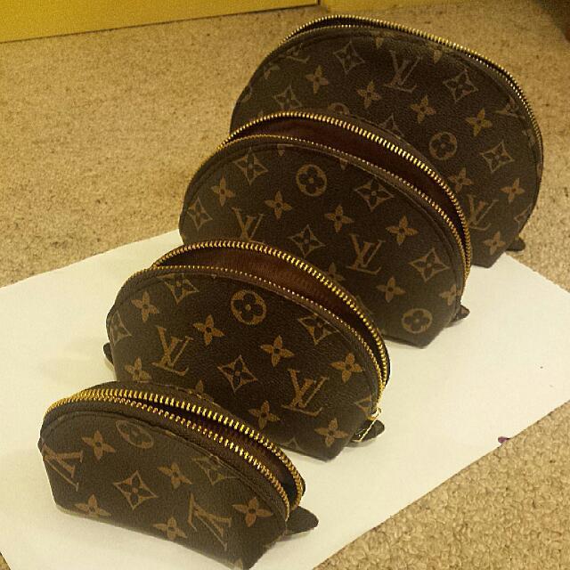 Louis Vuitton 4 Set Cosmetic Pouch REPLICA Womens