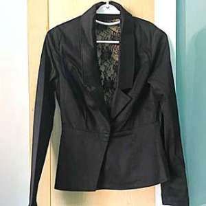 Carousell Jules Black Lace Back Jacket