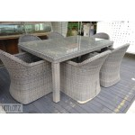 A Synthetic Rattan Outdoor Dining Table And Six Chairs Furniture Tables Chairs On Carousell
