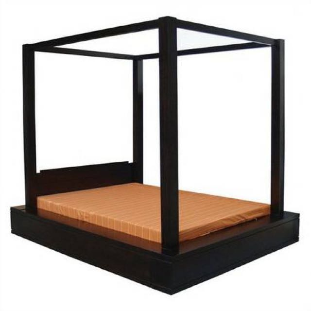 Teak 4 Poster Bed Frame Singapore Canopy Bed Free Delivery And Free Assemnbly Installation Furniture Beds Mattresses On Carousell