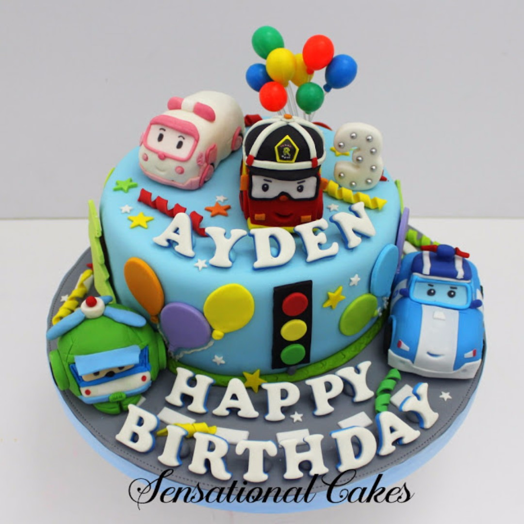 Robocar Poli And Friends Handcrafted 3d Cake Singapore