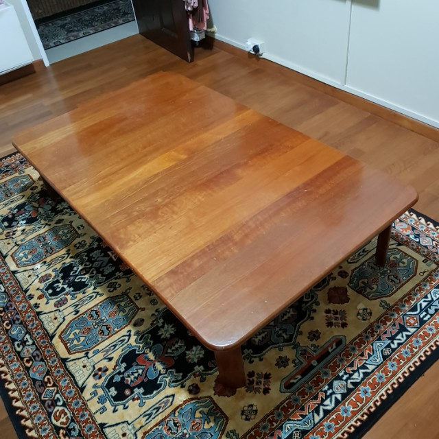 coffee table short wooden wood table