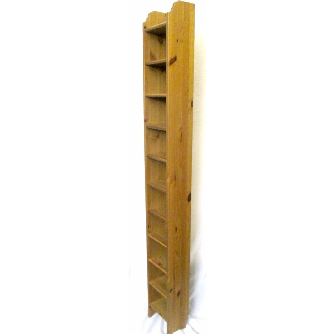 ikea pine leksvik wooden dvd rack cd tower