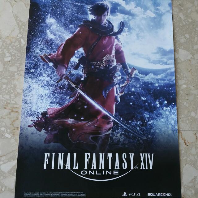 final fantasy xiv poster toys games
