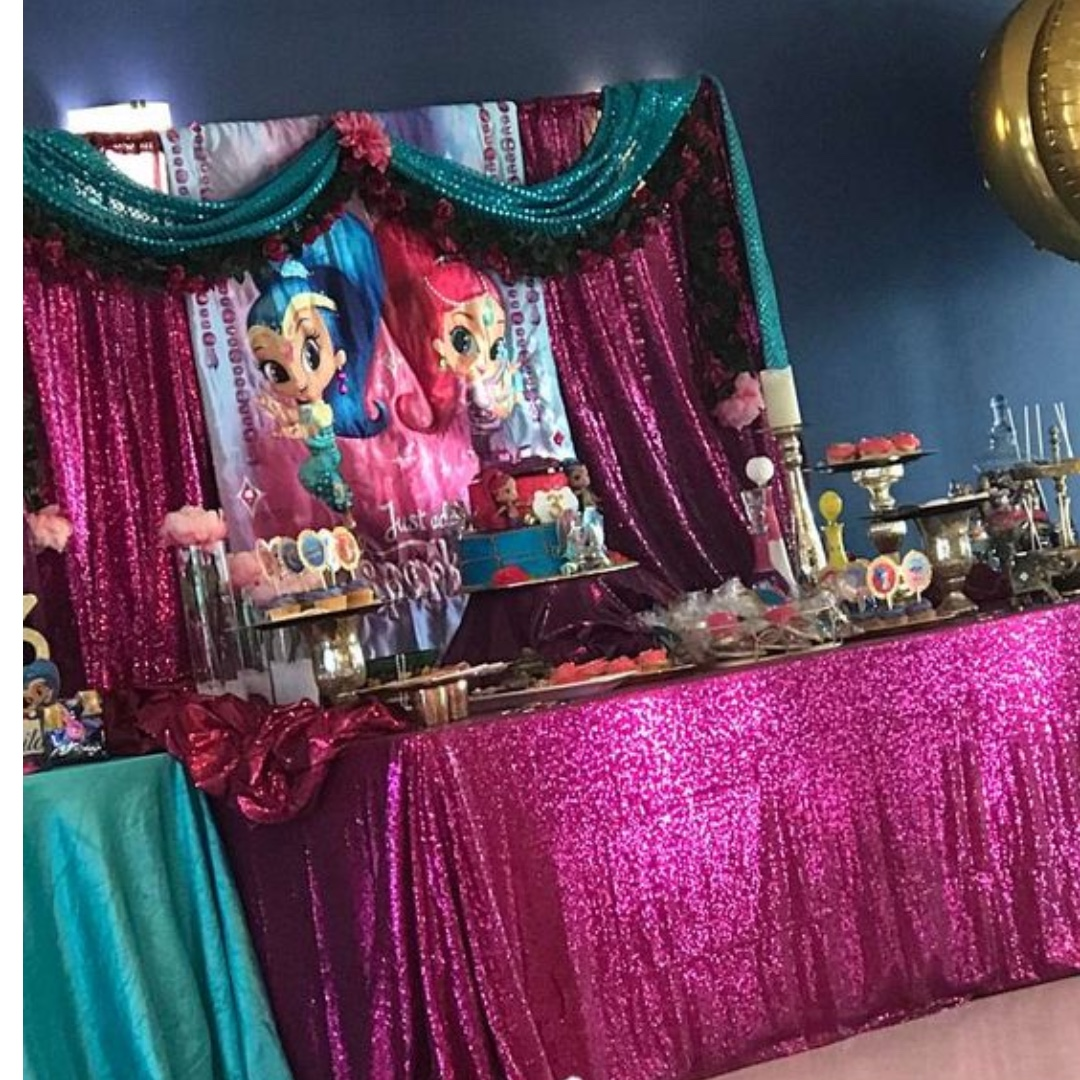Shimmer Shine Themed Birthday Party Party Supplies Pls Chat With Us For The Detailed Specific Product Listing Price We Have Wide Range Of Stocks Pre Printed Personalized Printables Hobbies