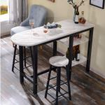 Marble Bar Table N Bar Stool Set Furniture Tables Chairs On Carousell