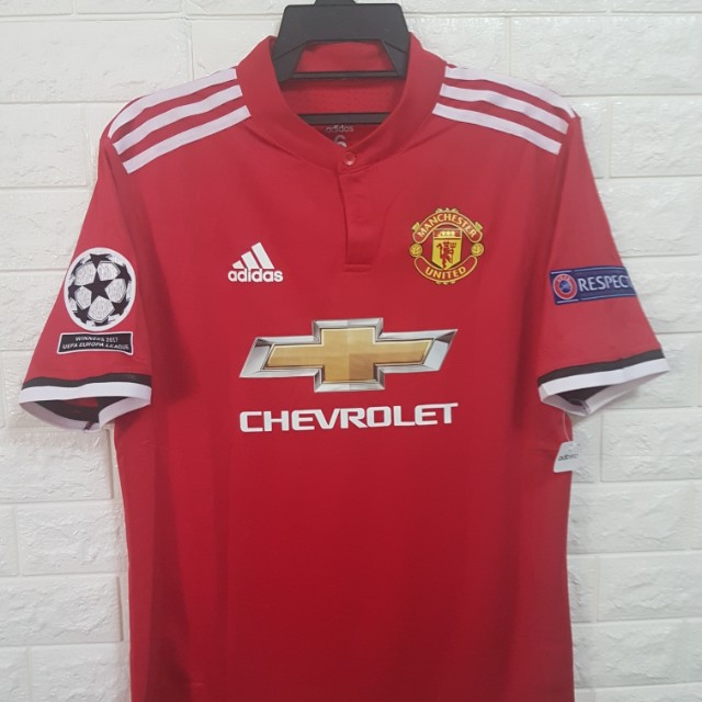 Player version Manchester United Champions League Jersey ...