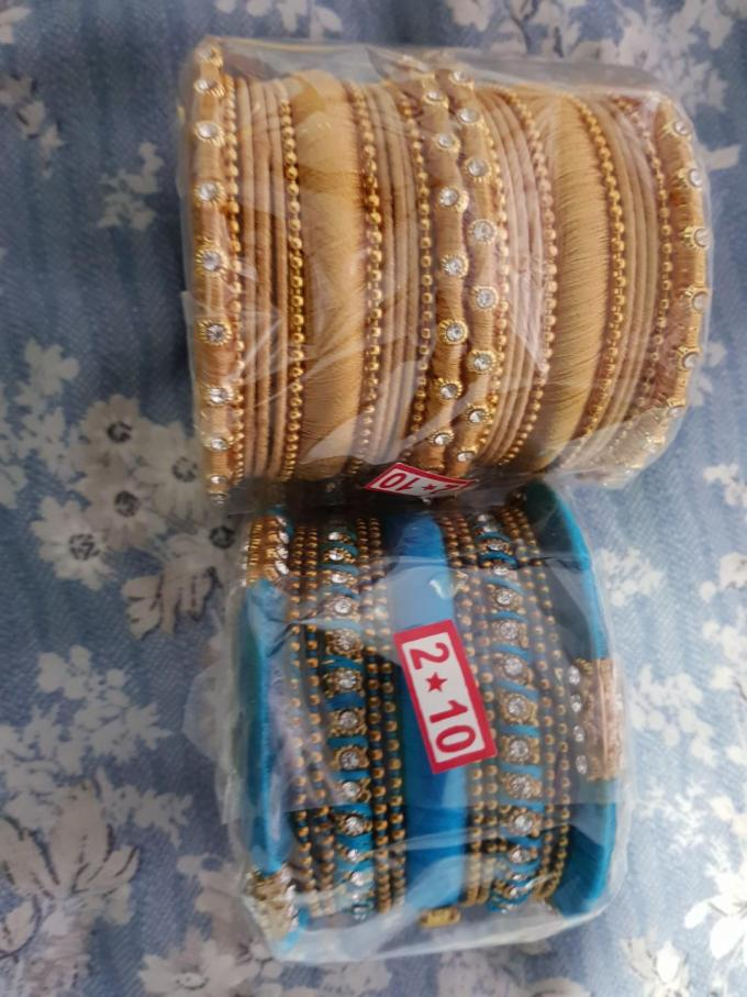 indian fancy thread bangles, women's fashion, accessories