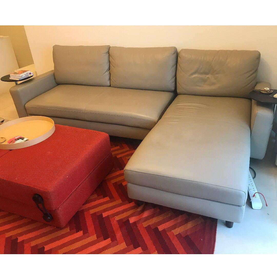 leather modular sofa incl sofa bed king living delta iii