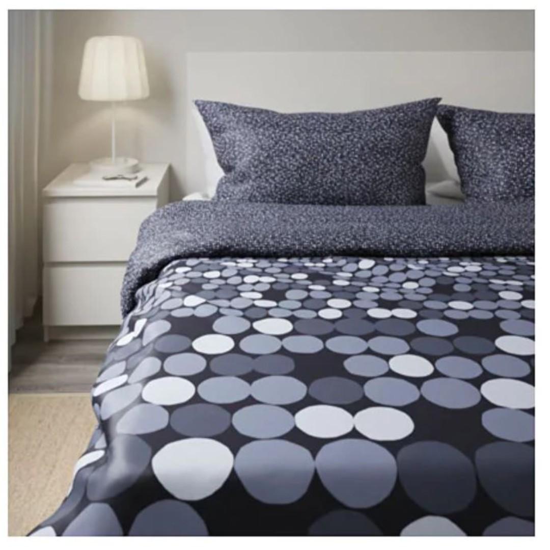 Ikea King Size Bedsheet Quilt 4 Pillowcases Furniture Beds Mattresses On Carousell