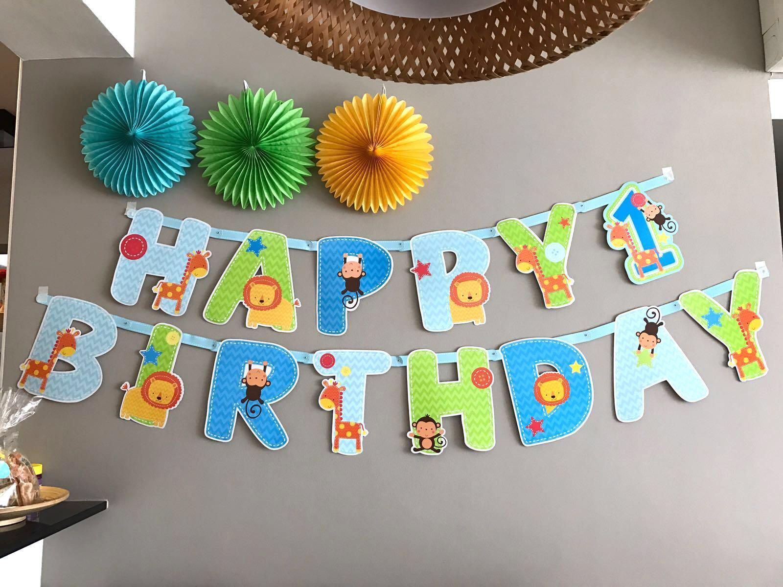 Happy 1st Birthday Banner Hobbies Toys Stationery Craft Occasions Party Supplies On Carousell