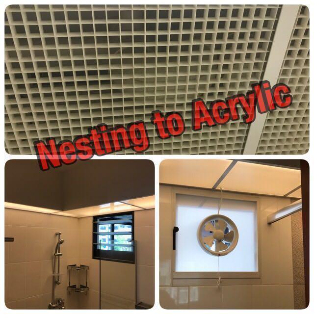 acrylic panel bathroom toilet ventilation fan bto