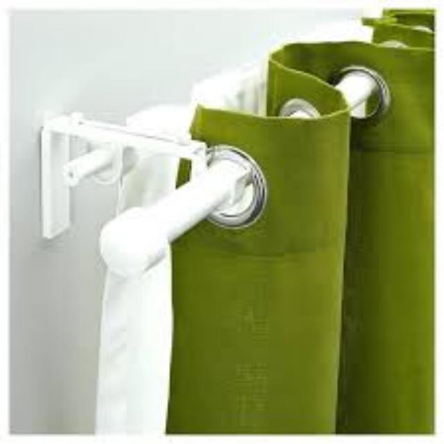 ikea racka curtain rods betydlig brackets and rod holders white