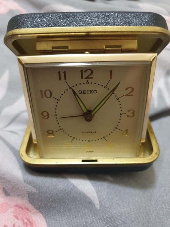 Vintage Seiko Travel Alarm Clock