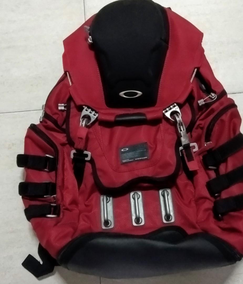 rare oakley kitchen sink red backpack