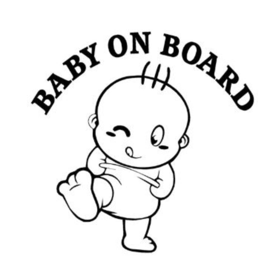 Baby On Board Car Decal Sticker Vinyl Free Mailing