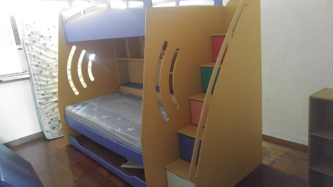 Children Double Bed For Sales Furniture Beds Mattresses On Carousell