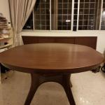 Solid Wood Round Extendable Dining Table Furniture Tables Chairs On Carousell