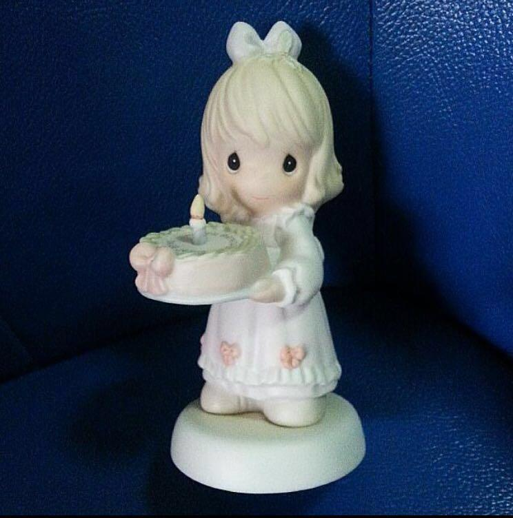 Precious Moments Girl Figurine Happy Birthday Dear Jesus Everything Else On Carousell