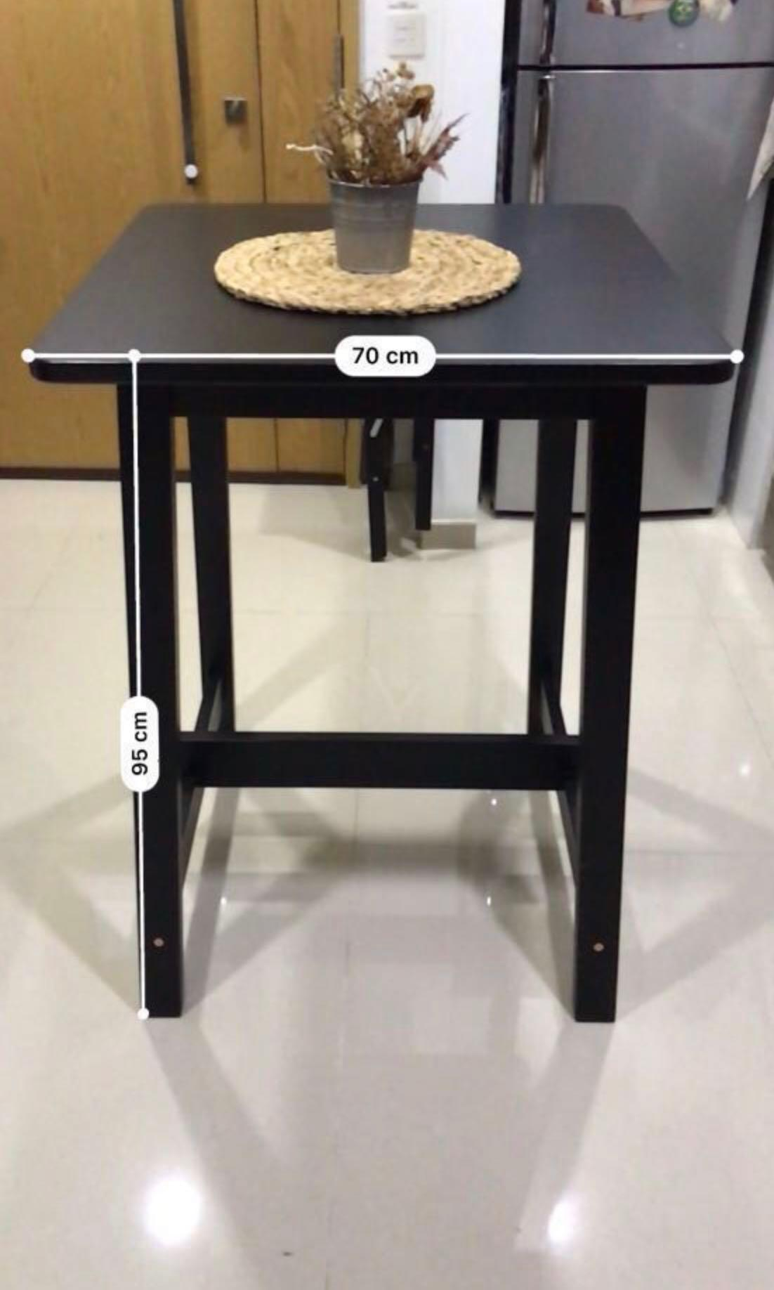 Nice Square Bar Table Black Furniture Tables Chairs On Carousell
