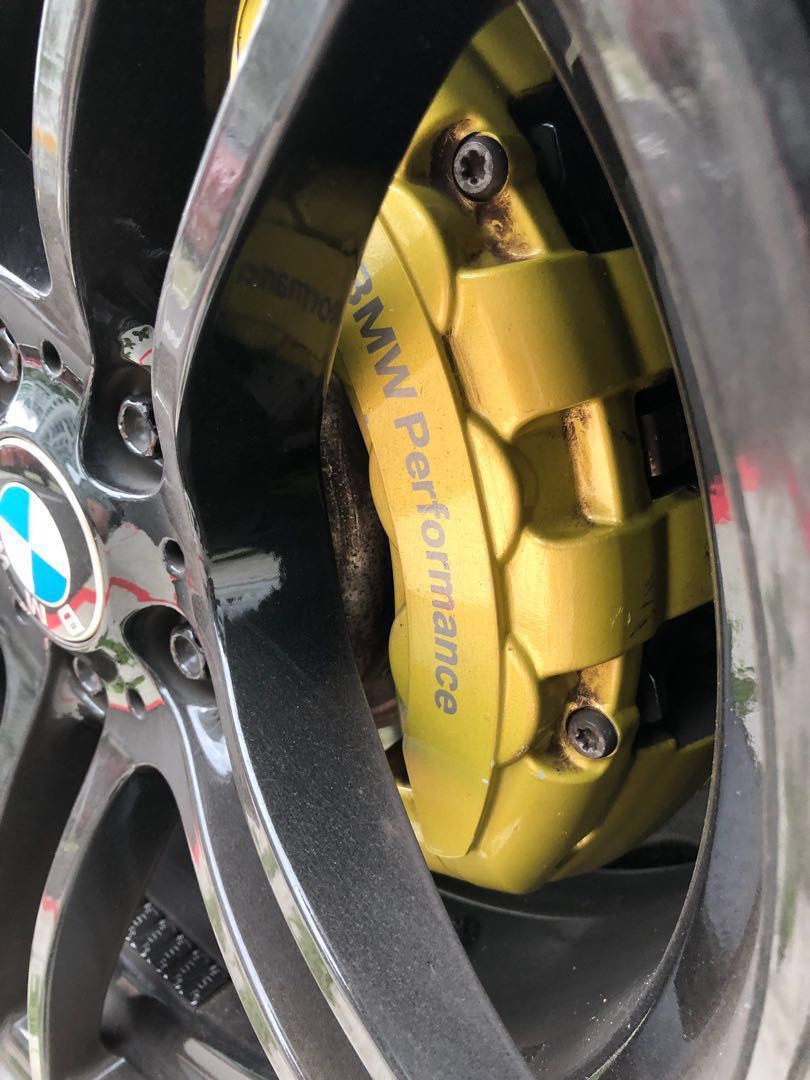 Original Bmw Performance Brembo 6 Pot Brake Calipers And Rotors Car Accessories Accessories On